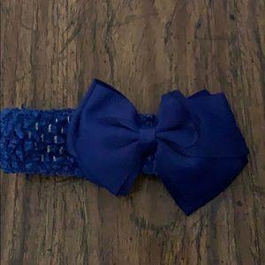 Blue baby headbands